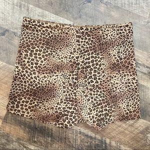 Flexees Leopard Print Shapewear Shorts
